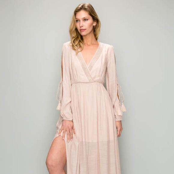 b438d4c017c Long Sleeve Aakaa Maxi Dress NWT